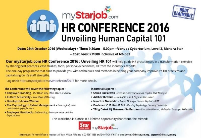 myStarjob.com HR Conference 2016: Unveiling Human Capital 101