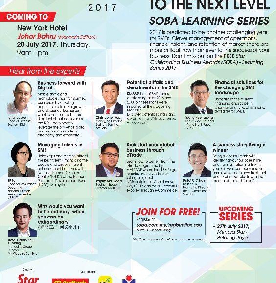 SOBA 2017: Learning Series – Johor Bahru