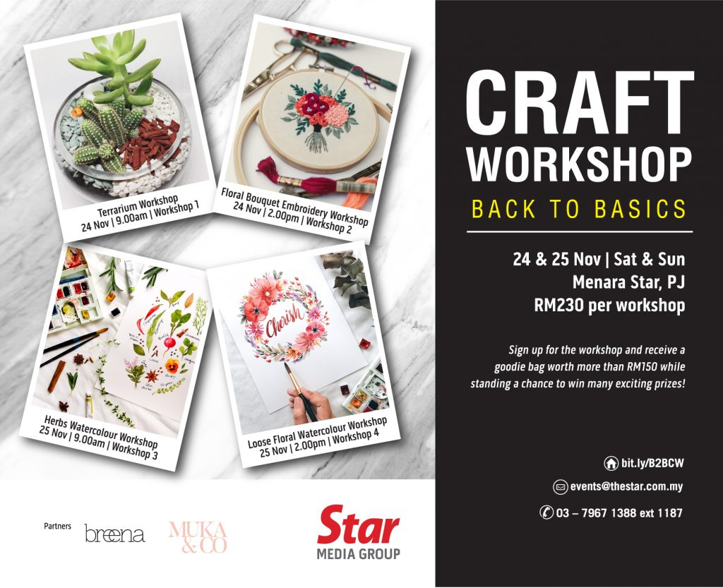 CRAFT WORKSHOP   BACK TO BASICS - Events by Star Media Group