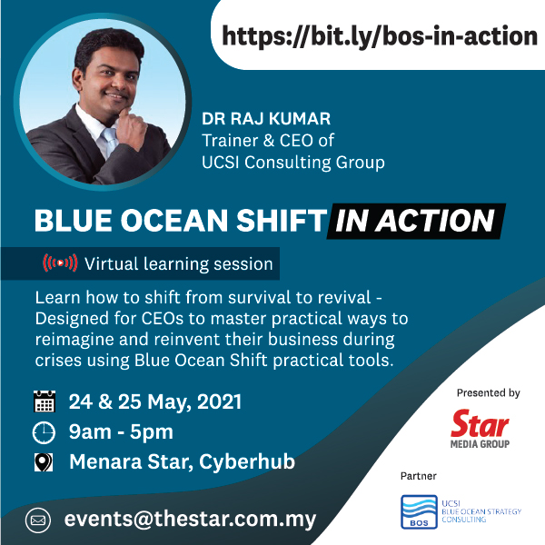 Learn how to shift from survival to revival - Designed for CEOs to master practical ways to reimagine and reinvent their business during crises using Blue Ocean Shift practical tools
